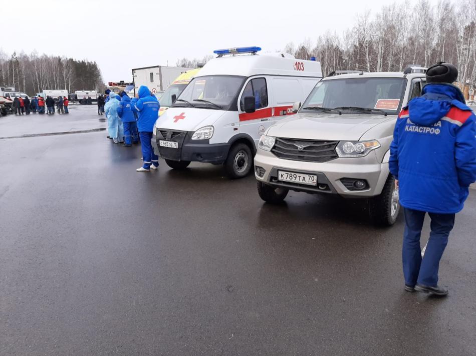 Смотр готовности сил  ТП РСЧС Томской области