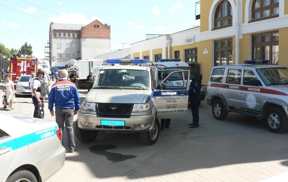 Участие в тактико специальном учении на железнодорожной станции Томск I