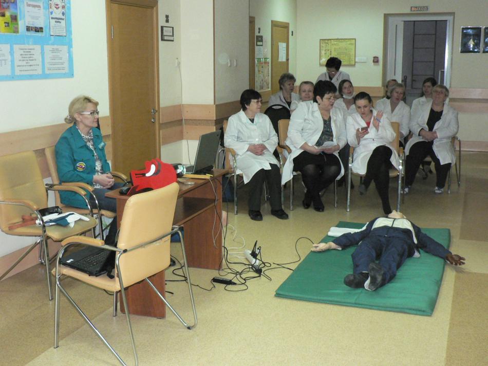 Продолжение мастер-класса по оказанию первой помощи в ОГАУЗ Больница №2