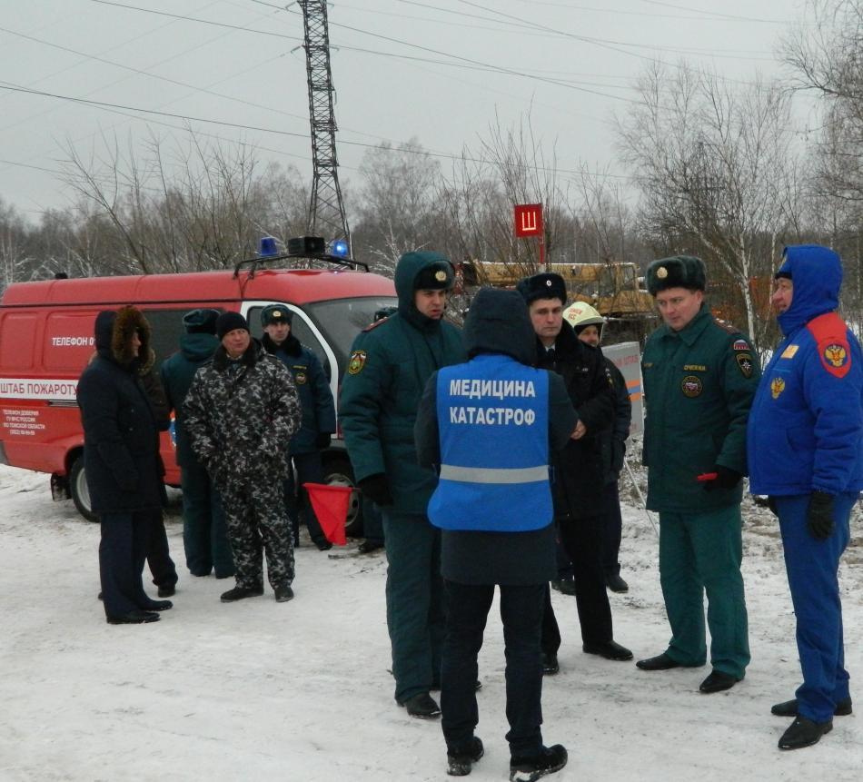 Командно-штабное учение при ЧС (ДТП) на федеральной автодороге